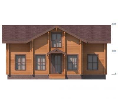 «Домодедово» — проект двухэтажного дома для постоянного проживания из профилированного сухого бруса под ключ