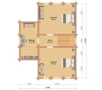 Проект дома из бруса профилированного «Домодедово»