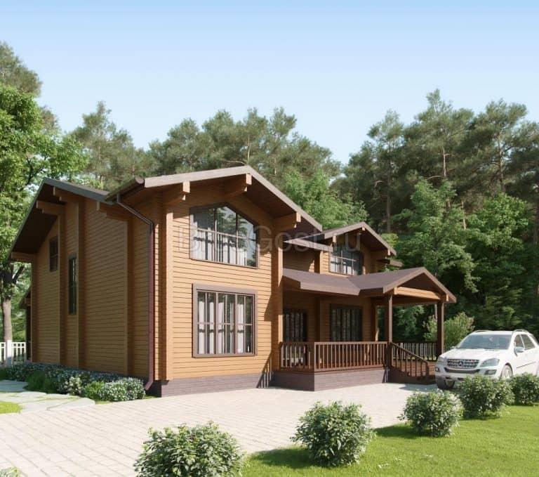 «Красногорск» — проект двухэтажного дома из бруса