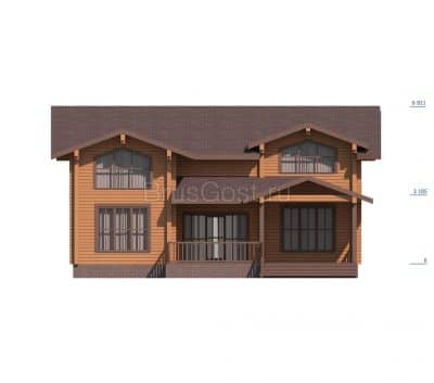 «Красногорск» — проект двухэтажного загородного коттеджа из профилированного сухого клееного бруса под ключ