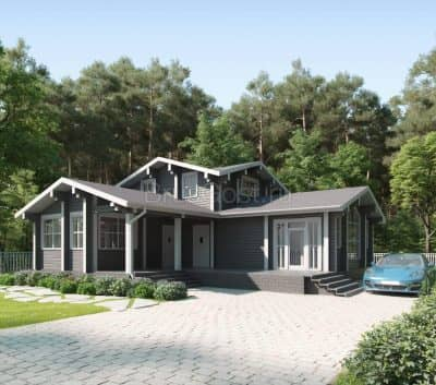 Проект дом- баня из профилированного бруса «Лоза»