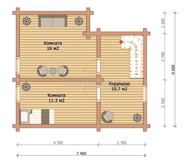 «Ступино» — проект бани с террасой