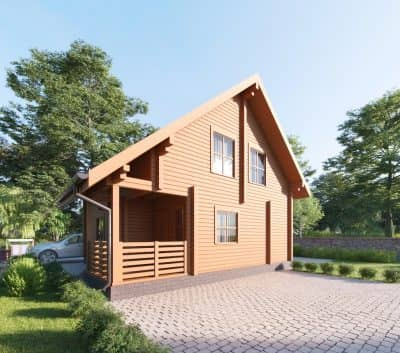 Проект дачного дома из бруса профилированного «Киржач»