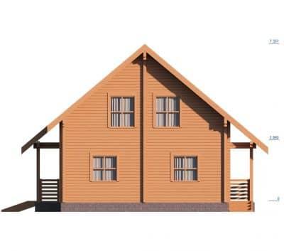«Киржач» — проект двухэтажного дачного дома для постоянного проживания из профилированного сухого бруса под ключ