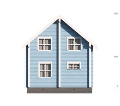 Проект дома из профилированного бруса «Лыткарино»