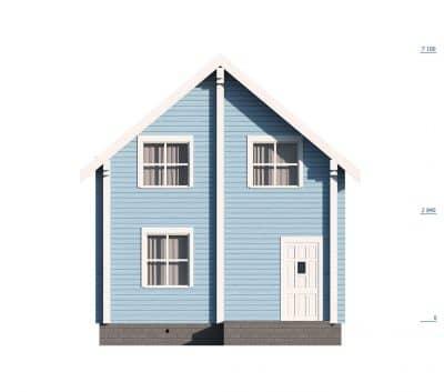 «Лыткарино» — проект двухэтажного дома из профилированного сухого бруса 6х9 м под ключ