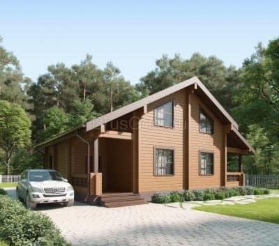 «Серпухов» — проект двухэтажного современного загородного дома из профилированного сухого бруса под ключ