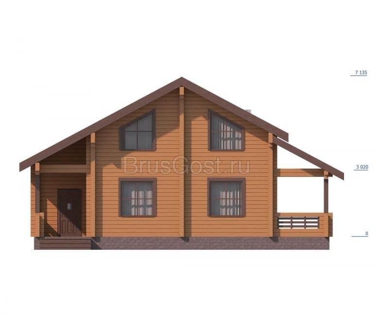 «Серпухов» — проект двухэтажного современного загородного дома из клееного бруса под ключ