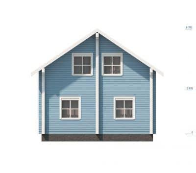 Проект дома из бруса профилированного «Верея»