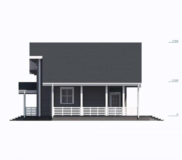 «Владимир» — проект двухэтажного загородного дома из профилированного бруса под ключ