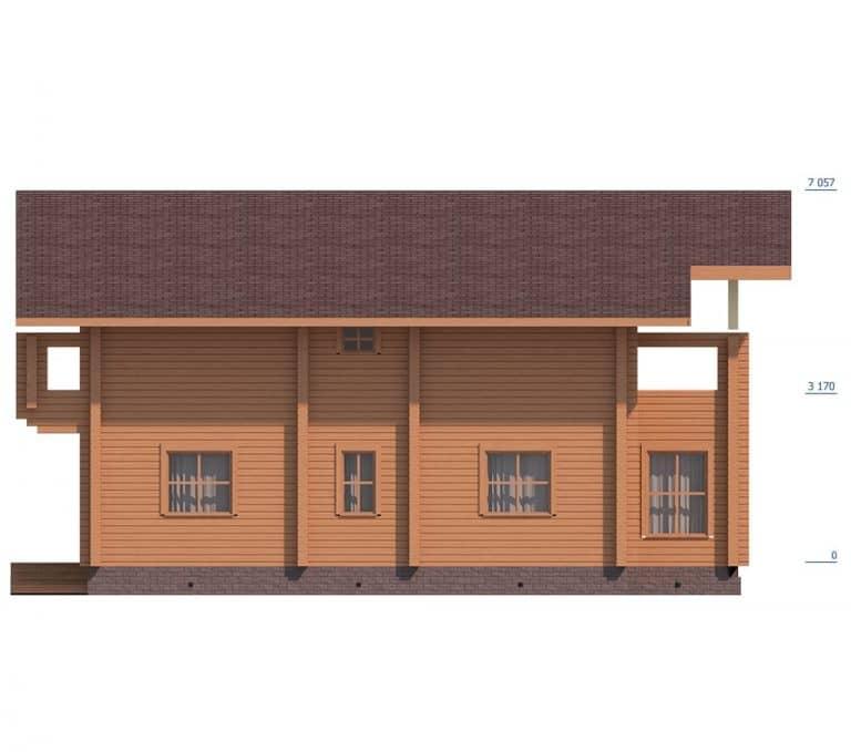 «Юбилейный» — проект двухэтажного загородного коттеджа из профилированного бруса под ключ