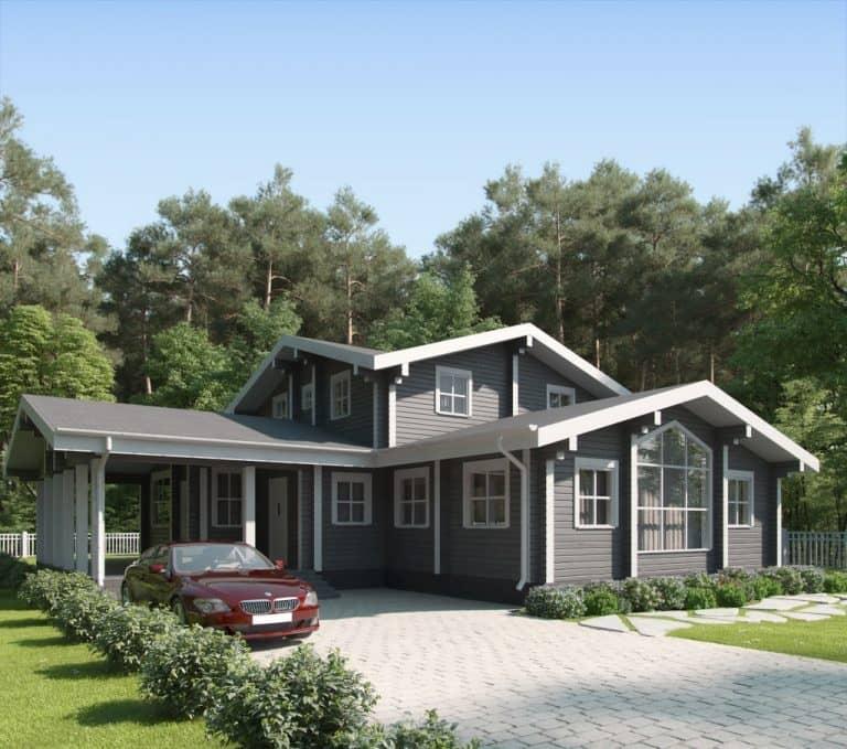 «Жуков» — проект двухэтажного дома из бруса