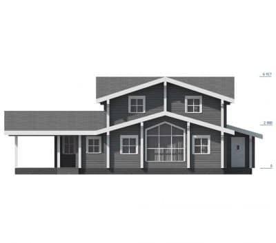 «Жуков» — проект двухэтажного дома для постоянного проживания из профилированного сухого бруса под ключ