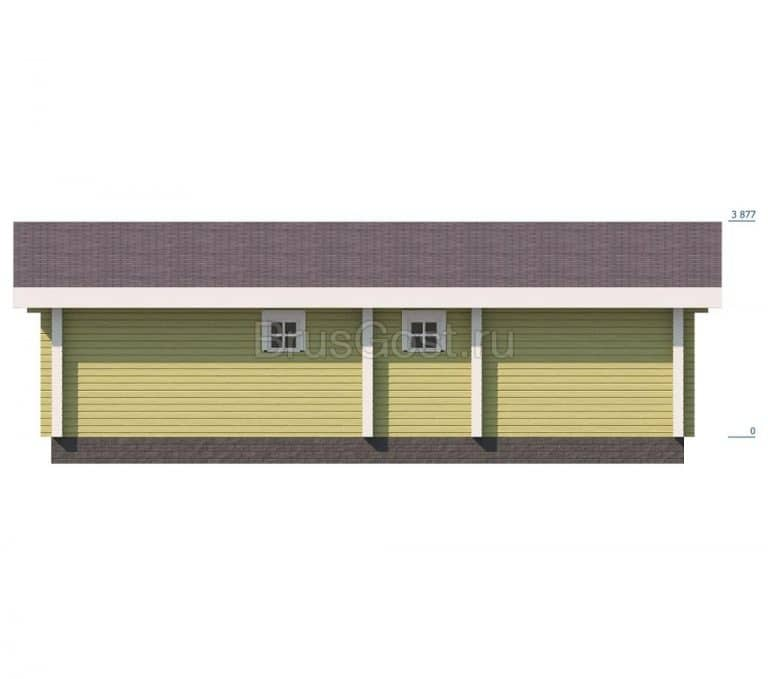«Ивантеевка» — проект одноэтажной бани из клееного бруса под ключ