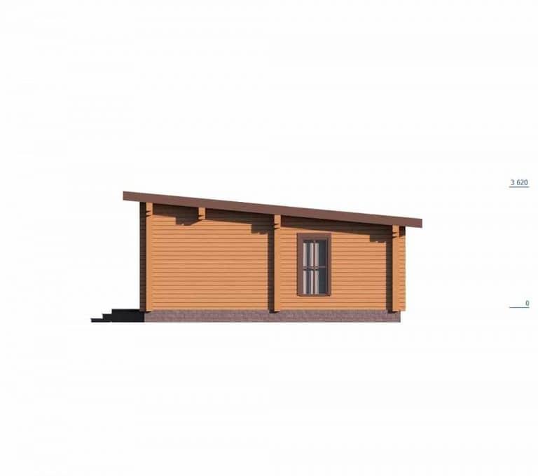 «Луховицы» — проект одноэтажной бани с верандой из клееного бруса под ключ