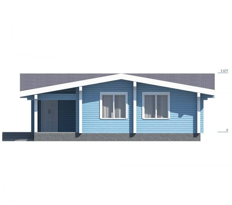 «Истра» — проект одноэтажного дома-бани из сухого профилированного бруса под ключ