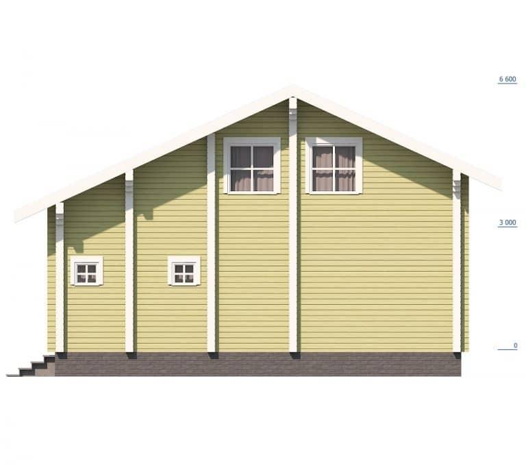 «Деулино» — проект двухэтажного дачного дома для постоянного проживания из сухого бруса под ключ