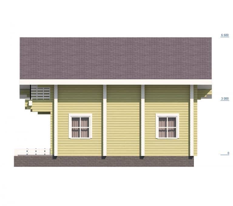 «Деулино» — проект двухэтажного дачного дома из бруса