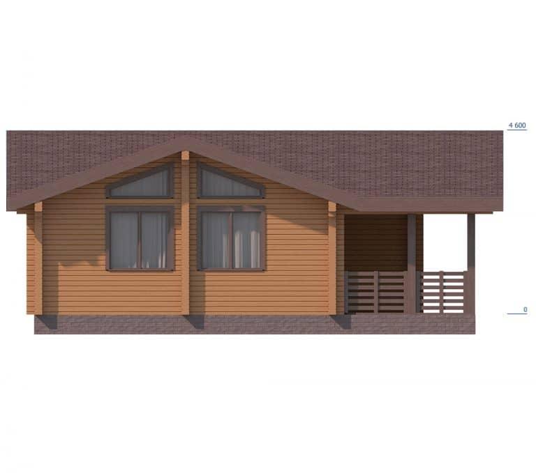 «Дубна» — проект одноэтажный дом-баня для постоянного проживания из сухого под ключ