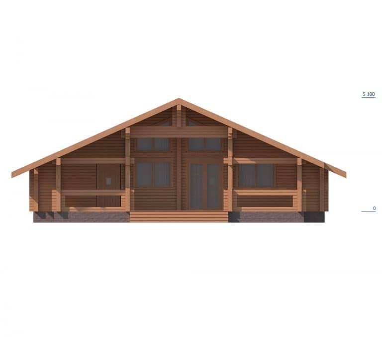 «Клин» — проект одноэтажного дома из профилированного бруса