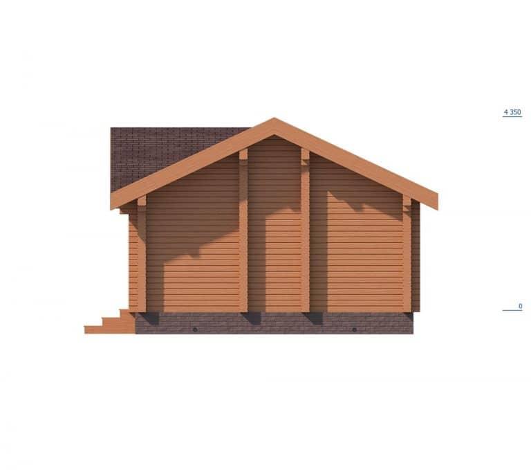 «Лобня» — проект одноэтажной бани с верандой из бруса