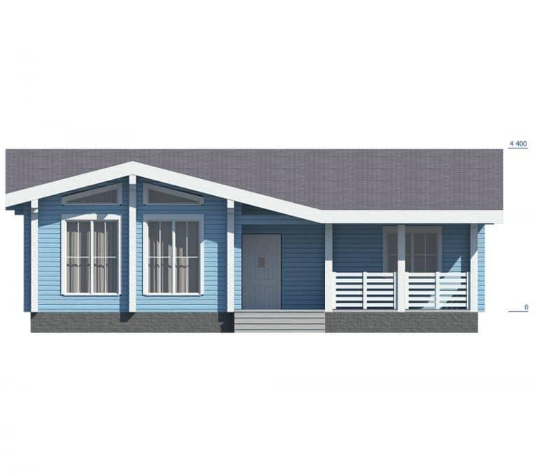 «Ожерелье» — проект одноэтажного загородного дома с верандой
