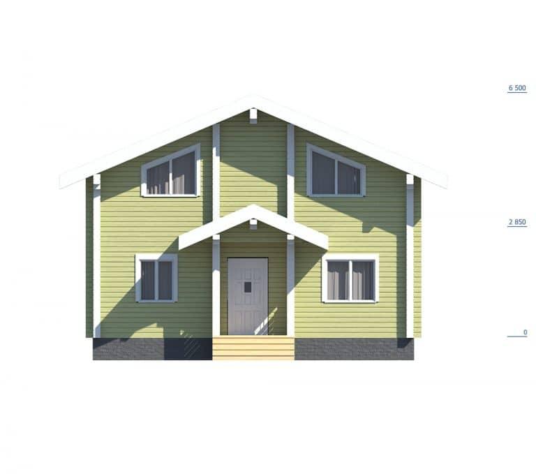 «Покров» — проект двухэтажного загородного дома из бруса