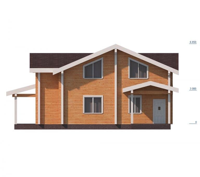 «Троицк» — проект двухэтажного дома для постоянного проживания из сухого бруса под ключ