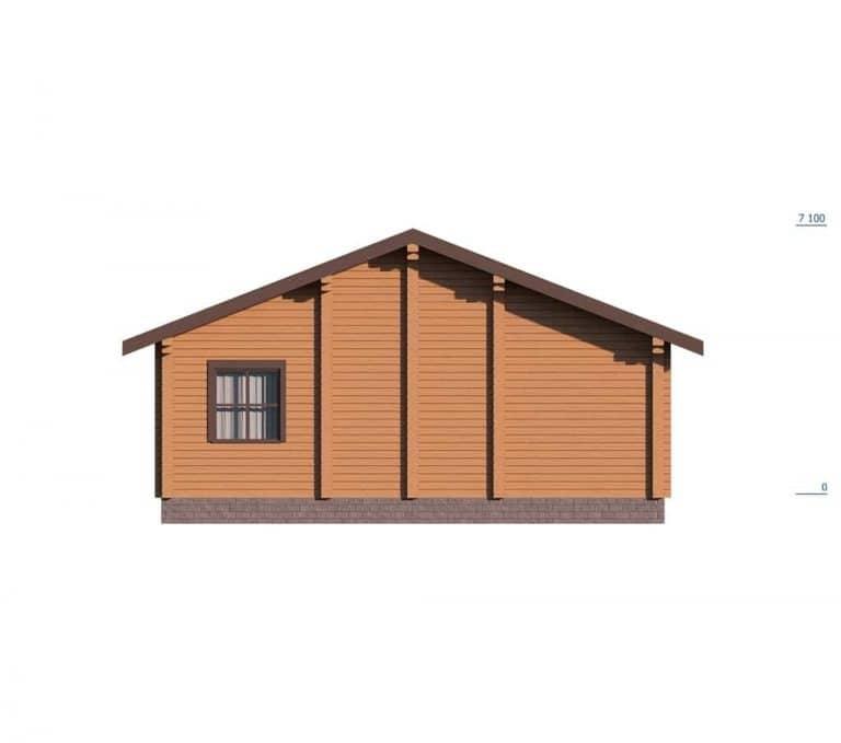 «Чехов» — проект одноэтажного дома для постоянного проживания из профилированного бруса под ключ
