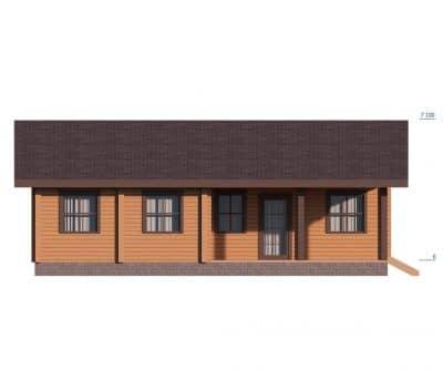 «Чехов» — проект одноэтажного дома для постоянного проживания из профилированного сухого клееного бруса под ключ