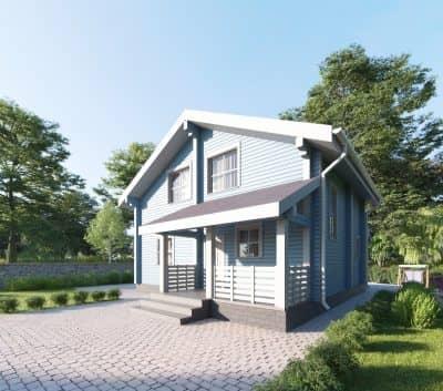 «Ногинск» — проект двухэтажного коттеджа из профилированного сухого бруса 9х9 м под ключ