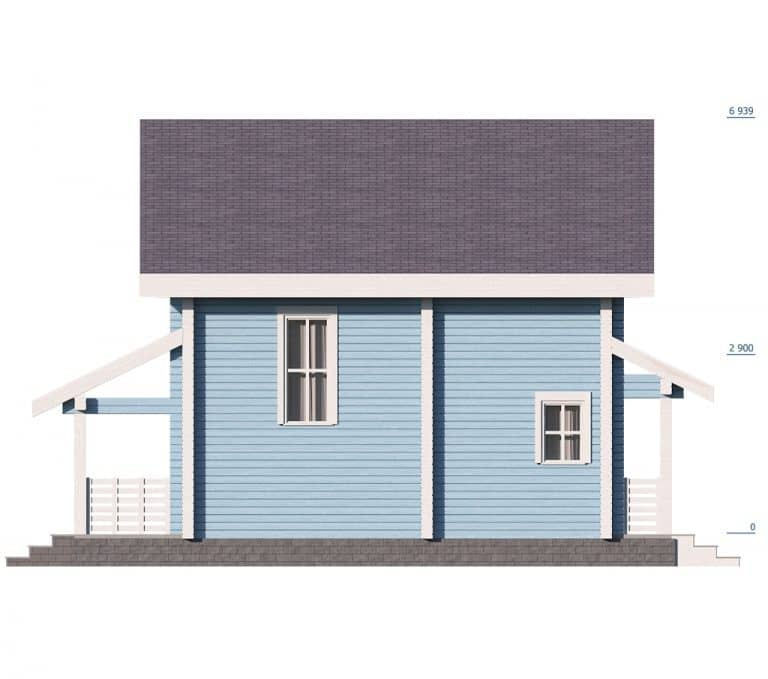 «Ногинск» — проект двухэтажного дома из бруса