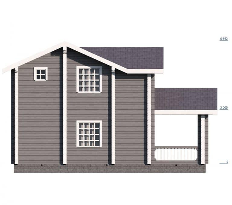 «Пересвет» — проект двухэтажного загородного дома для постоянного проживания из клееного бруса под ключ