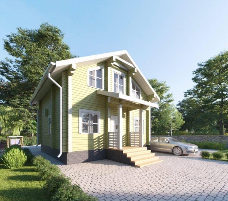 «Воскресенск» — проект двухэтажного дачного дома для постоянного проживания из клееного бруса под ключ