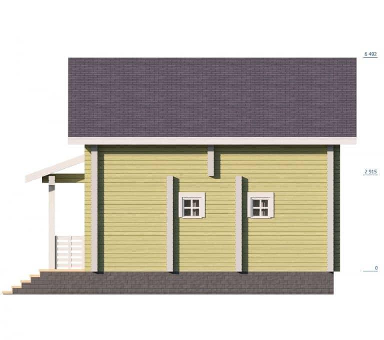 «Воскресенск» — проект двухэтажного дачного дома для постоянного проживания из сухого бруса под ключ