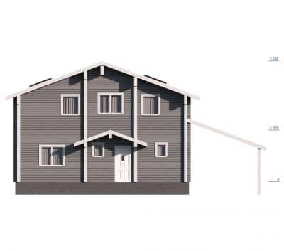 «Ярославль» — проект двухэтажного дома для постоянного проживания из профилированного сухого бруса под ключ