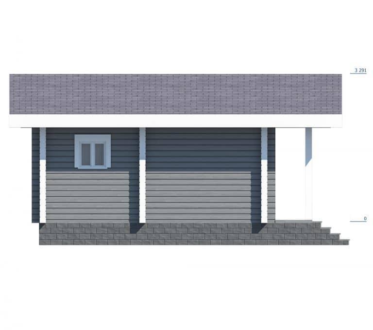 «Щербинка» — проект одноэтажной бани с верандой  из клееного бруса