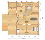 «Истра» — проект одноэтажного дома-бани из бруса