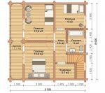 «Жуковский» — проект двухэтажного загородного дома из бруса