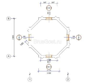«Пантелеимон целитель» проект часовни из профилированного бруса