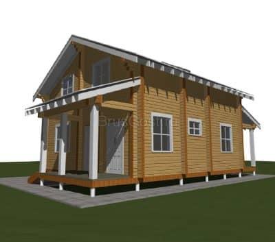 Проект дома из профилированного бруса «Радонеж»
