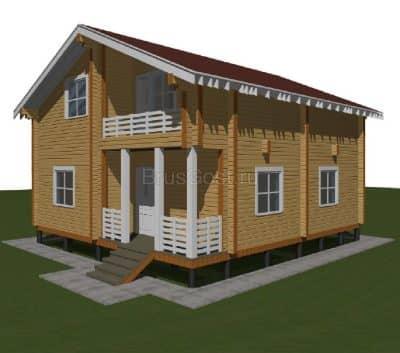 Проект загородного дома из бруса профилированного «Сергиев Посад»
