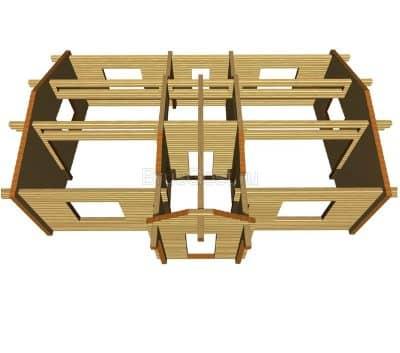 Проект загородного дома из бруса профилированного «Яхрома»