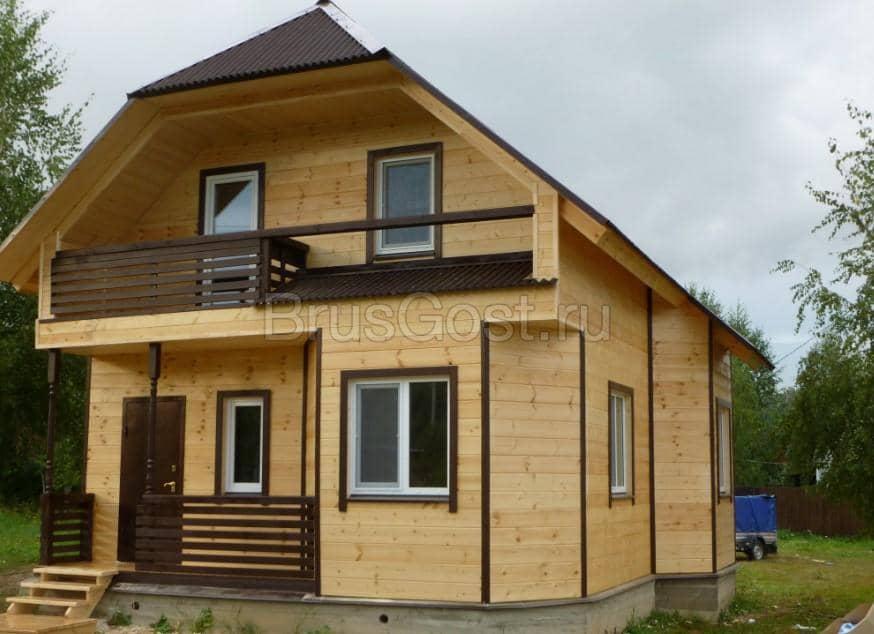 как самому построить дом из бруса сколько стоит