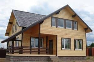 Красивые проекты домов из бруса