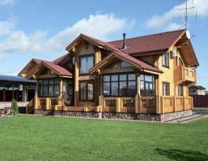Современный деревянный дом проекты