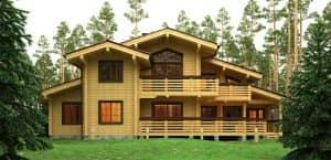 строительство элитного деревянного дома