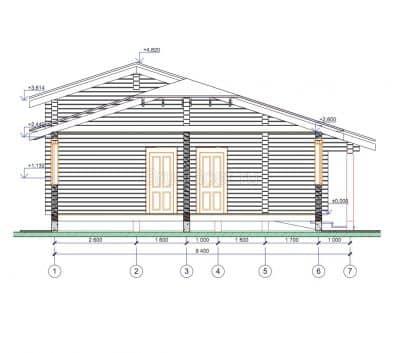 Проект дома из бруса профилированного «Реутов»