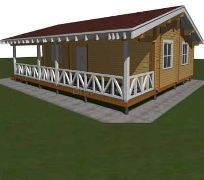 Проект дома из профилированного бруса «Химки»