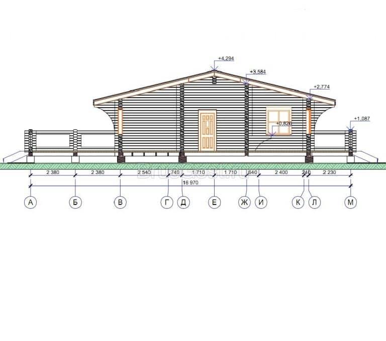 Проект дома из профилированного бруса «Звенигород»